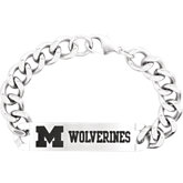 Michigan Wolverines Logo ID Bracelet
