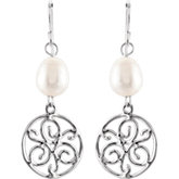 Freshwater Cultured Pearl & Sterling Silver Earrings