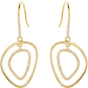 14kt Yellow A/  ATW<br> Diamond Earrings