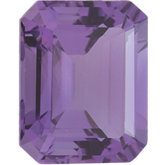 Emerald/Octagon Genuine Amethyst
