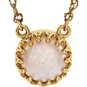 Gemstone Crown-Design Necklace or Center Mounting