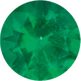 Round Genuine Emerald