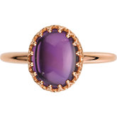 Crown Design Cabochon Ring