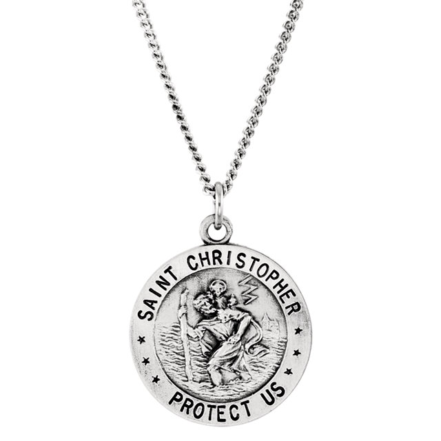 Sterling silver 18mm st christopher us air force medal 18 sterling silver 18mm st christopher us air force medal 18 necklace r41578 1007 p aloadofball Choice Image