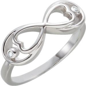 Sterling Silver .025 CTW Diamond Ring