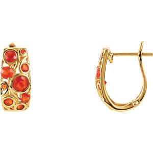 Mexican Fire Opal Earrings