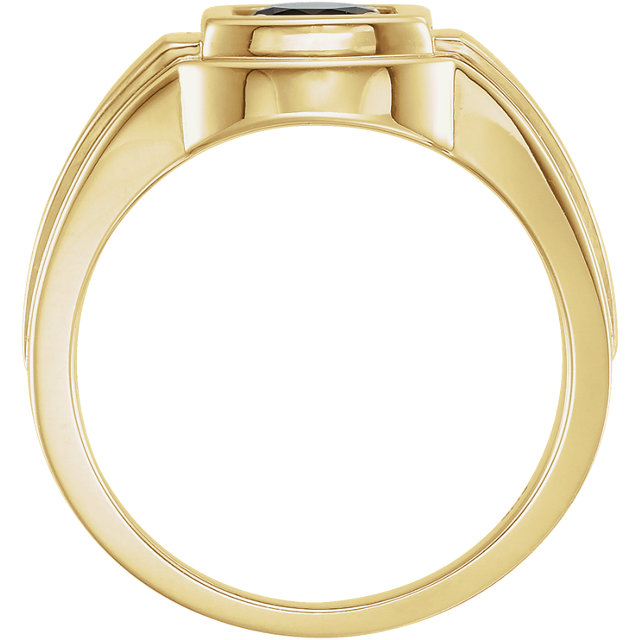 14K Yellow Onyx Men-s Ring