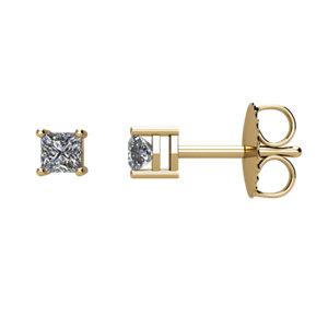 I₁ G-H Princess Diamond Friction Post Stud Earrings