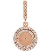 Freshwater Cultured Pearl & Diamond Pendant or Mounting