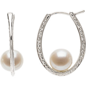 Freshwater Cultured Pearl Hoop Earrings