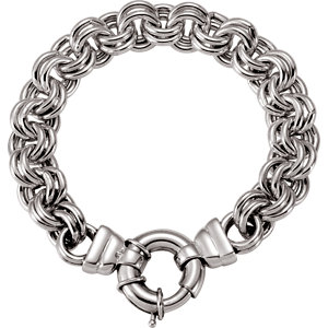 Solid Double Cable Bracelet 10.5mm