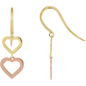 Heart Design Earrings