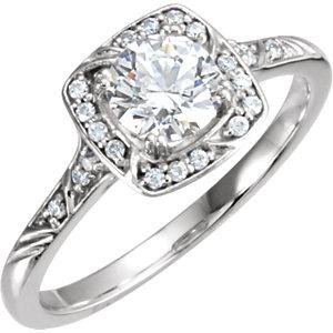 Diamond Sculptural Engagement Ring or Semi-Mount