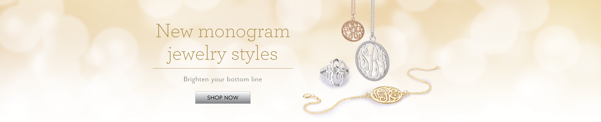 New monogram jewelry Styles
