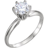 6-Prong Pre-Notched Solitaire Engagement Ring