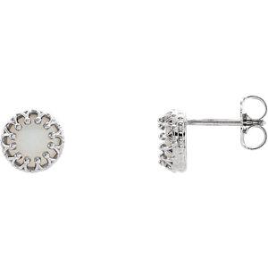 Crown Design Gemstone Earrings or Mounting