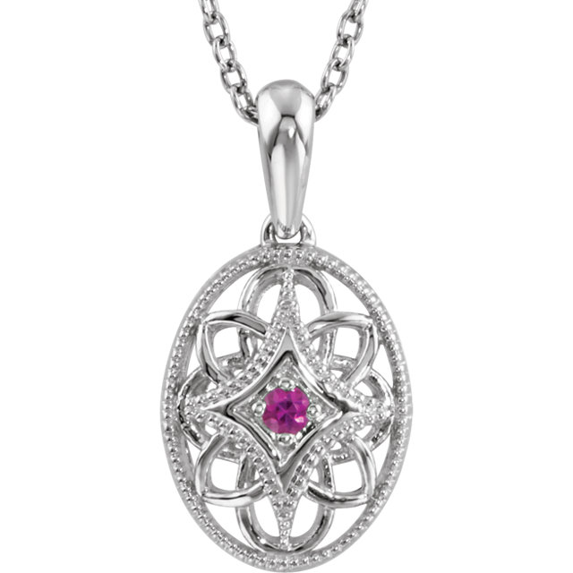 Sterling Silver Ruby 18