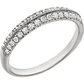 Diamond Double Row Band