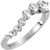 Journey 7 Stone Graduated Ring Mounting for Diamonds