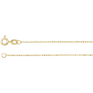 Solid Bead Diamond-Cut Chain 1mm