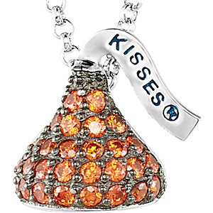 Sterling Silver January HERSHEYS KISSES& Aubic Zirconia 16-1