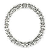 Oval Shape Diamond Bezel for Twenty Stones