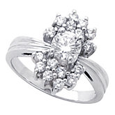 Ladies Diamond Fashion Ring Mounting