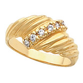 Accented Fashion Ring Mounting