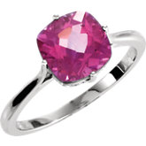Solitaire Ring Mounting for Antique Square Gemstone