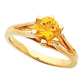 Split Shank Ring Mounting for Round Gemstone Solitaire