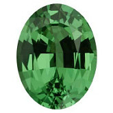 Oval Genuine Tsavorite Garnet (Black Box)