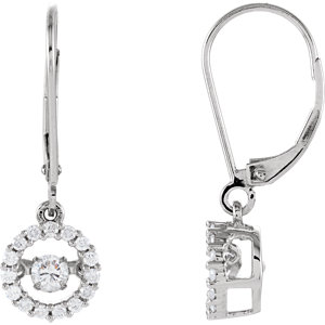 14kt White 1/  ATW<br> Diamond Halo-Style<br> Mystara® Earrings