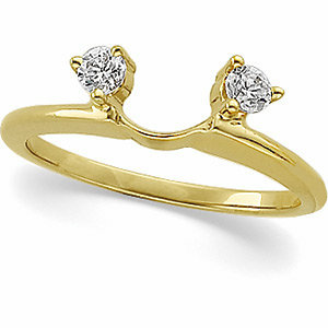 14K Yellow 1/5 CTW Diamond Wrap-Style Ring Enhancer