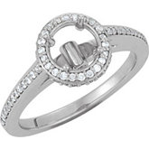 Halo-Styled Engagement Ring or Matching Band