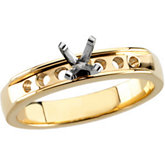 Channel-Set Engagement Mounting or Matching Ladies/Gents Wedding band