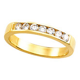8-Stone Channel Set Wedding Band Mounting