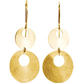 Gold Fashion Dangle Earrings