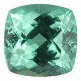 Antique Square Genuine Green (paraiba-like) Tourmaline (Black Box)