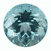 Round Genuine Blue Paraiba Tourmaline (Black Box)