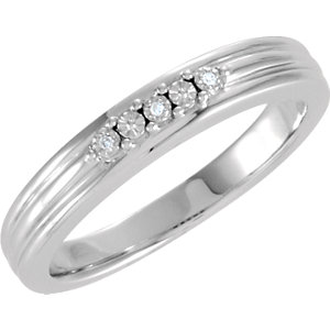 Diamond Illusion Engagement Ring or Matching Band