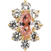 Marquise Center Nine Stone Cluster Top