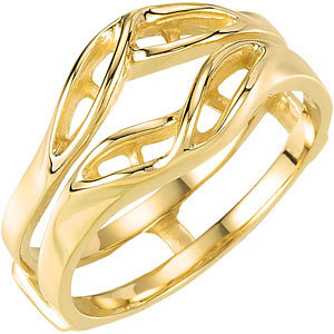 14kt Yellow Accented Ring Guard Mounting