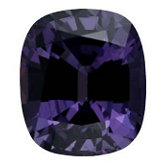 Antique Cushion Genuine Purple Spinel (Black Box)