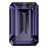 Emerald/Octagon Genuine Purple Spinel (Black Box)