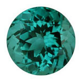 Round Genuine Blue Green Tourmaline (Black Box)
