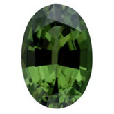 Oval Genuine Green (Chrome) Tourmaline (Black Box)