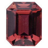 Emerald/Octagon Genuine Pink Tourmaline (Black Box)