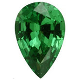 Pear Genuine Tsavorite Garnet (Black Box)