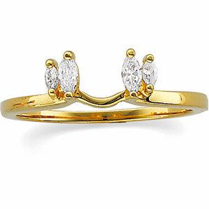 14K Yellow 1/4 CTW Diamond Wrap-Style Ring Enhancer