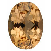 Oval Genuine Golden Precious Topaz (Black Box)